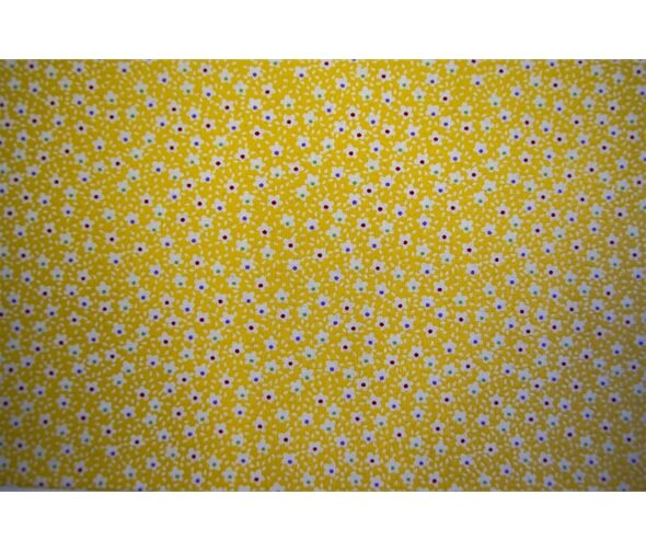 Kingfisher Fabrics Vintage Miniatures Yellow - £8 per metre