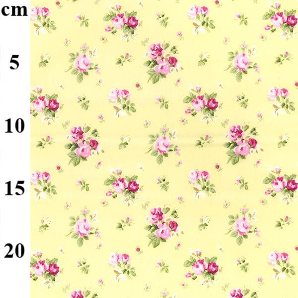 Rose & Hubble Lemon Floral Cotton Poplin Fabric - £8 per metre