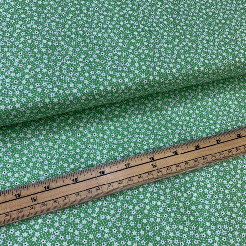 Kingfisher Fabrics Vintage Miniatures Green - £8 per metre