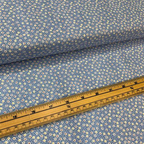 Kingfisher Fabrics Vintage Miniatures Blue - £8 per metre