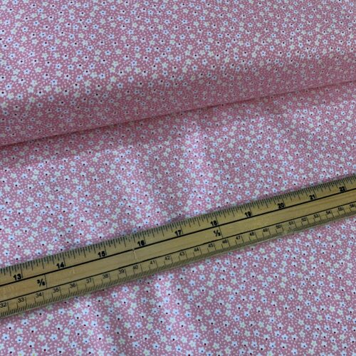 Kingfisher Fabrics Vintage Miniatures Pink - £8 per metre