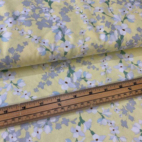 Rose & Hubble Lemon Blossom Cotton Poplin Fabric - £8 per metre
