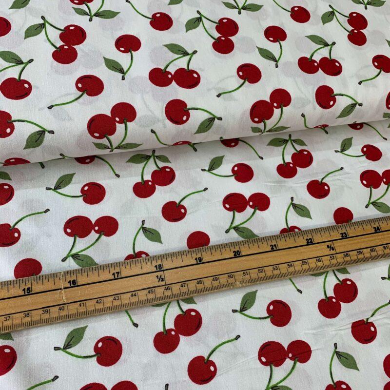 Rose & Hubble Cherry Cotton Poplin Fabric - £8 per metre