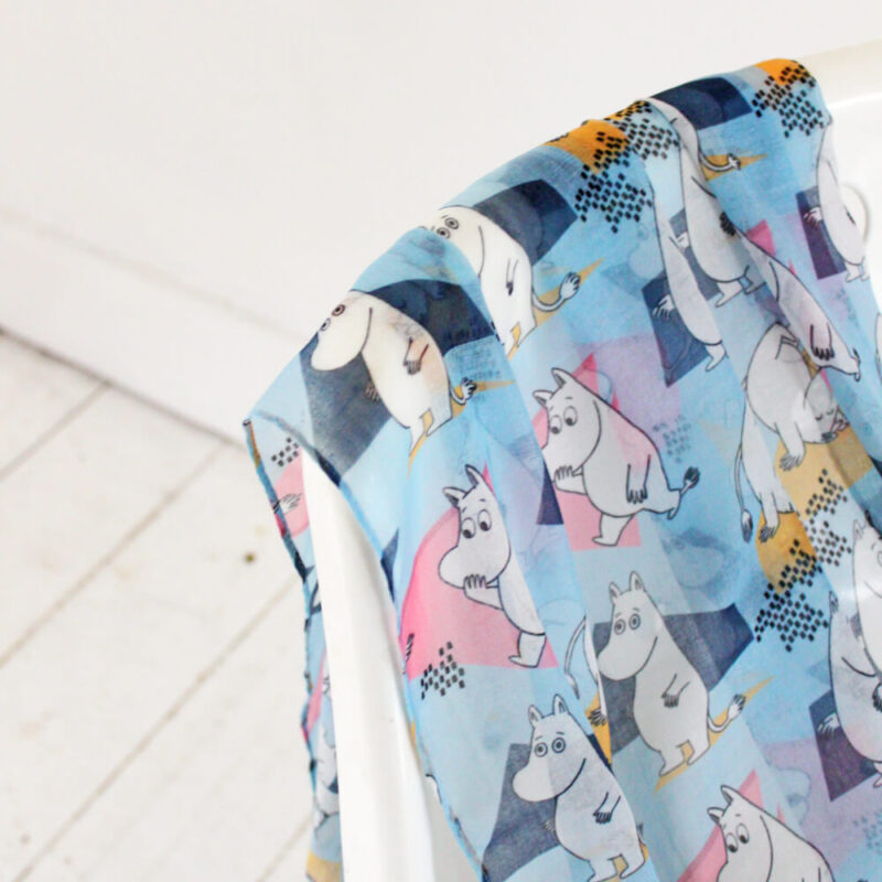 Moomin Scarf Abstract