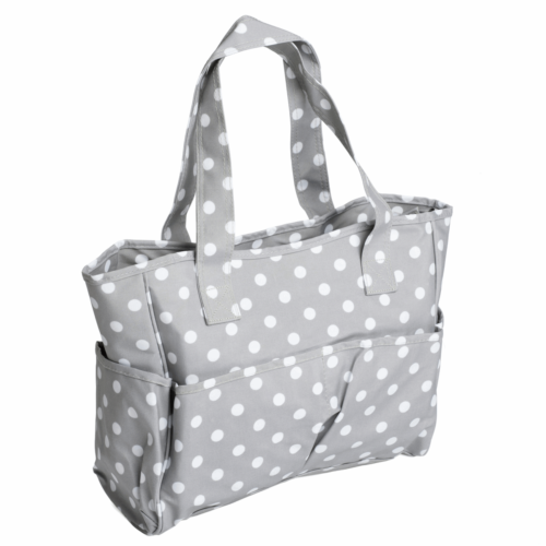 PVC Cotton Coated Grey Spot Craft Bag