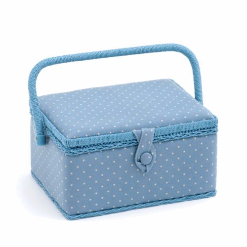 Cornflower Mini Polka Dot Sewing Box