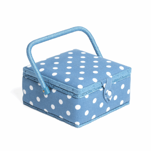 Square Denim Spot Sewing Box