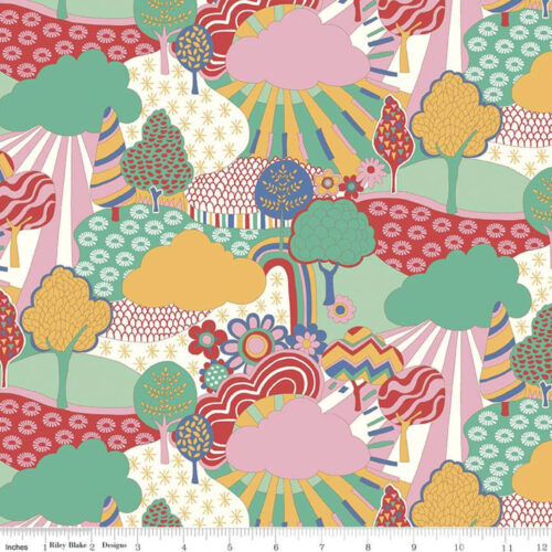 Liberty Fabrics - The Carnaby Collection Bohemian Brights Sunny Afternoon - £15 per metre