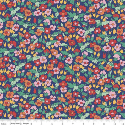 Liberty Fabrics - The Carnaby Collection Bohemian Brights Piccadilly Poppy - £15 per metre