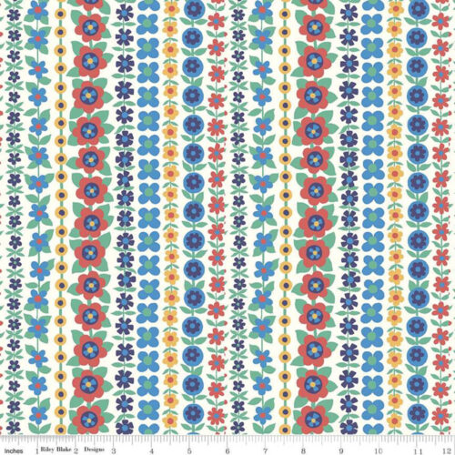 Liberty Fabrics - The Carnaby Collection Bohemian Brights Soho Stripe - £15 per metre