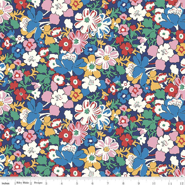 Liberty Fabrics - The Carnaby Collection Bohemian Brights Westbourne Posy - £15 per metre