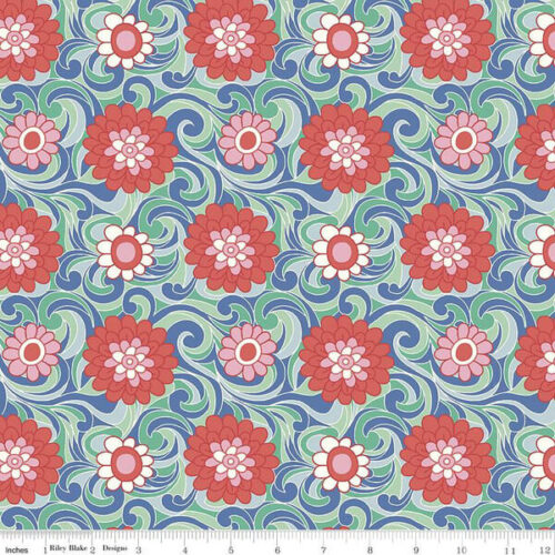 Liberty Fabrics - The Carnaby Collection Bohemian Brights Carnation Carnival - £15 per metre