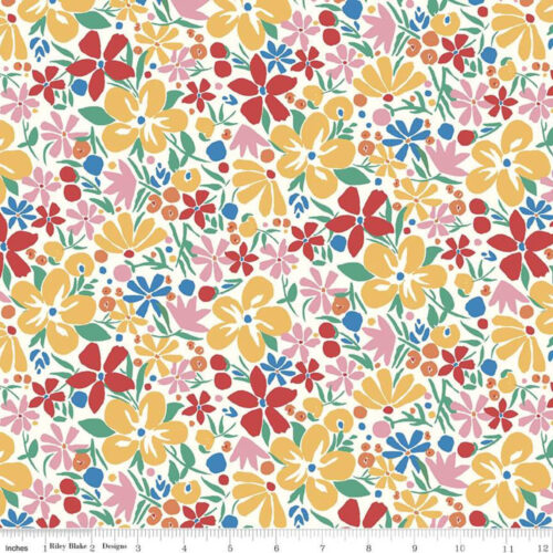 Liberty Fabrics - The Carnaby Collection Bohemian Brights: Bohemian Bloom - £15 per metre