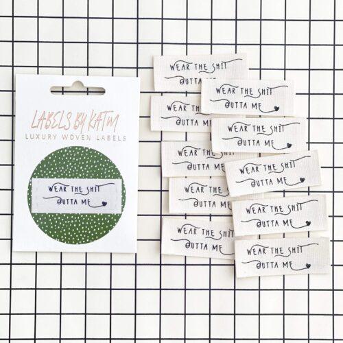 KATM Wear The Sh*t Outta Me Cotton Labels - 10 Pack