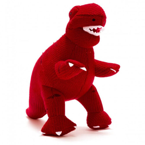 Best Years Knitted Dinosaur Red T Rex Toy