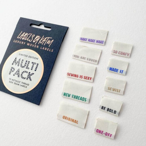 KATM Limited Edition * Multi Pack - Metallic Side Seam Labels - Mixed 10 Pack