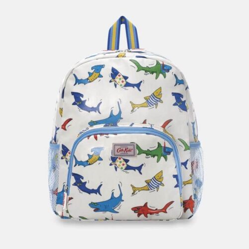 Cath Kidston Summer Sharks Kids Classic Large Backpack with Mesh Pocket