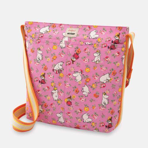 Cath Kidston Moomin Linen Sprig Zipped Messenger Bag
