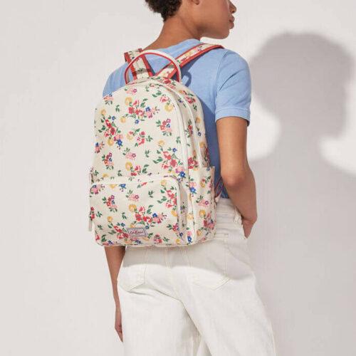 Cath Kidston Summer Floral Pocket Backpack Cream