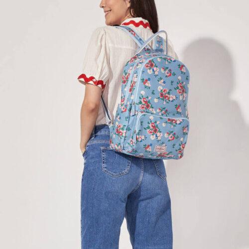 Cath Kidston Summer Floral Pocket Backpack Light Blue