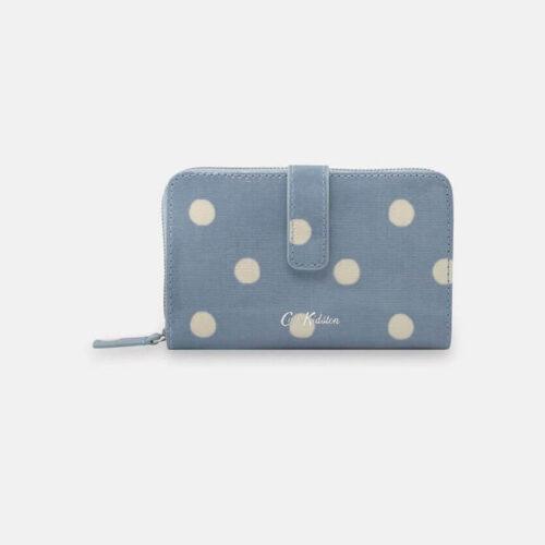 Cath Kidston Button Spot Blue Folded Zip Wallet
