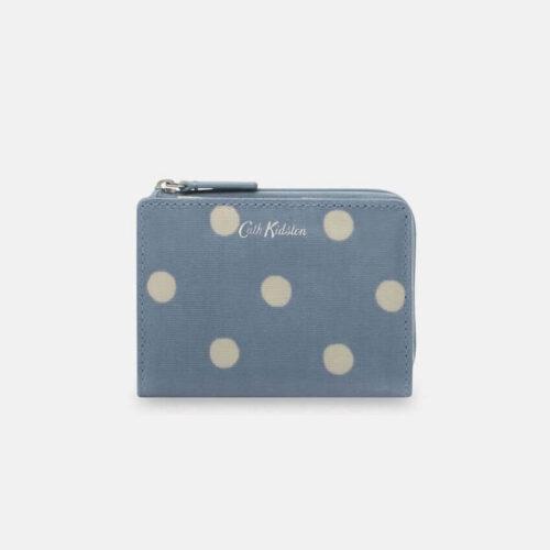 Cath Kidston Button Spot Blue Slim Pocket Purse