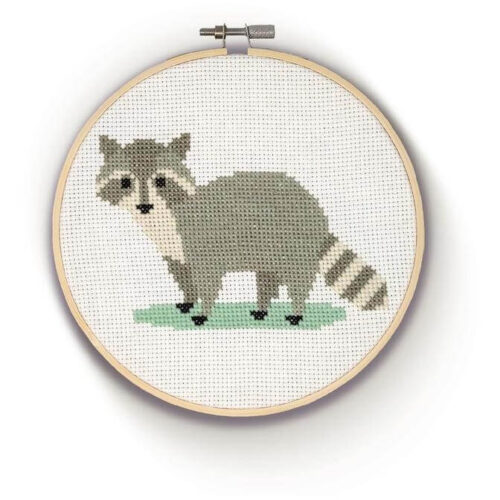Racoon Cross Stitch Kit