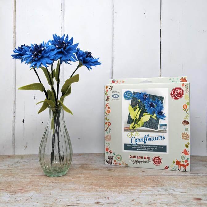 Felt Cornflowers Craft Kit