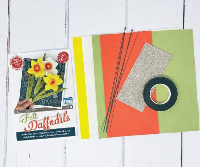 Felt Daffodils Craft Kit