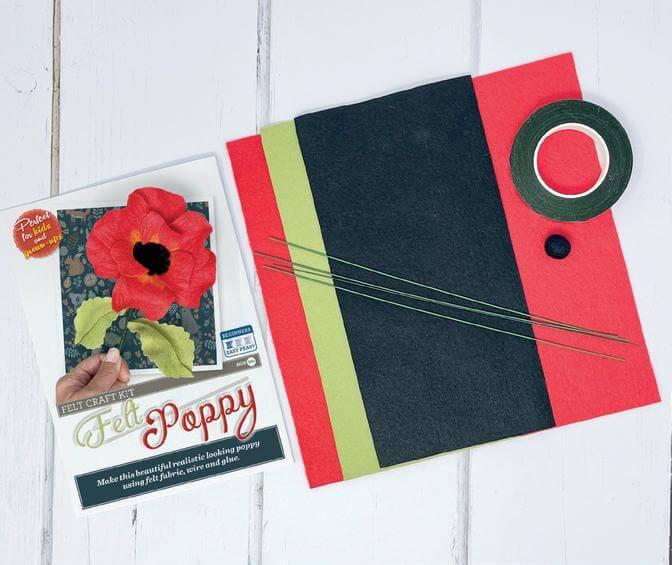 Felt Poppy Craft Kit