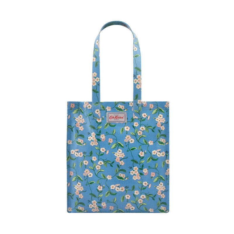 Cath Kidston Forget Me Not Shiny Bookbag with Gusset