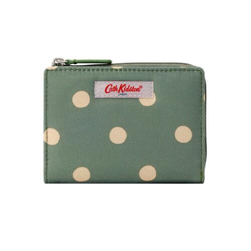 Cath Kidston Button Spot Sage Slim Pocket Purse