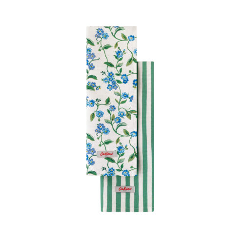 Cath Kidston Forget Me Not Set of Two Tea Towels