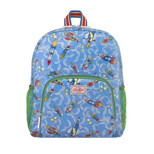 Cath Kidston Rockets Kids Classic Large Backpack with Mesh Pocket