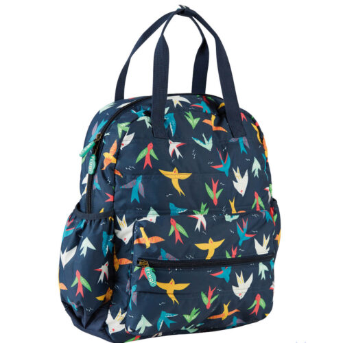 Frugi Out and About Changing Back Pack: Rainbow Birds