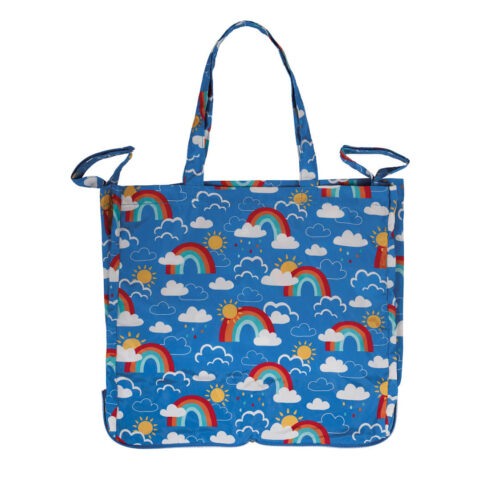 Frugi Pack Away Tote Bag: Rainbow Skies