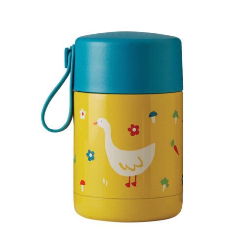 Frugi Yummy Insulated Food Flask: Bumblebee/Duck