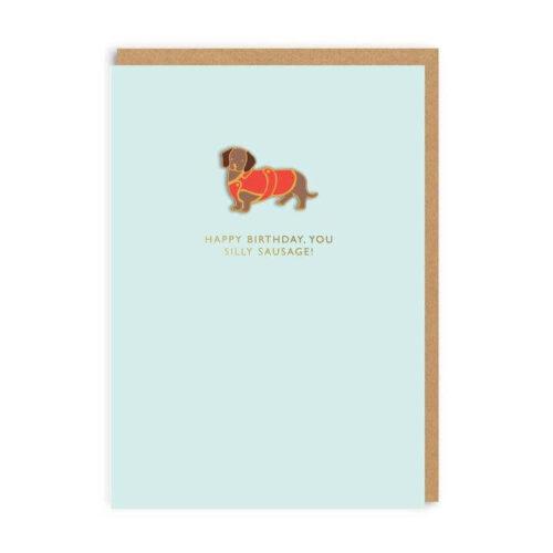Cath Kidston Happy Birthday You Silly Sausage! Enamel Pin Card