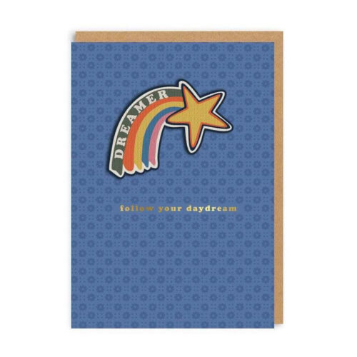 Cath Kidston Follow Your Daydream Woven Patch Greeting Card