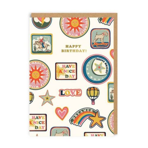Cath Kidston Birthday Patches Greeting Card