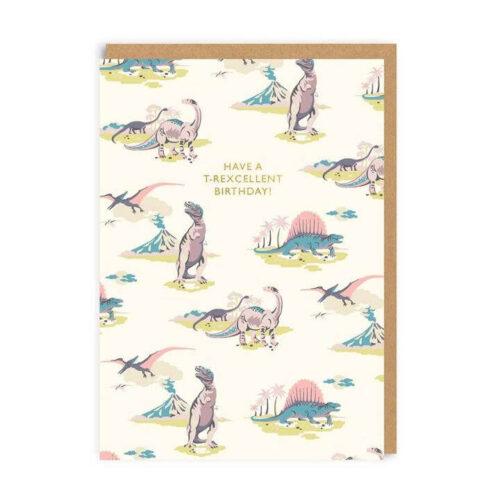 Cath Kidston Pastel Dinosaurs Birthday Greeting Card