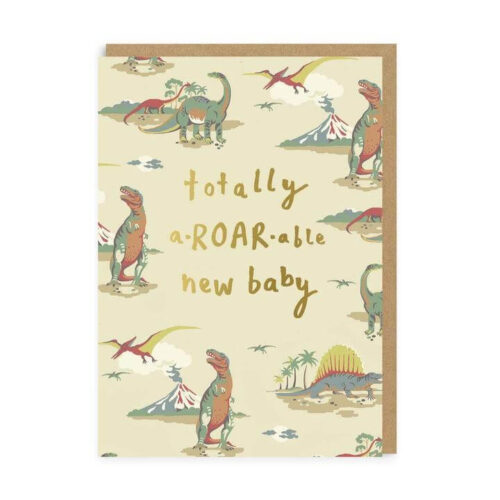 Cath Kidston Totally A-Roar-Able New Baby Greeting Card