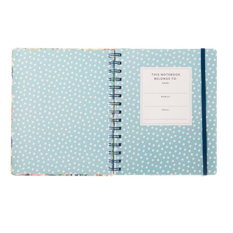 Cath Kidston Portland Flowers A5 Wirebound Notebook