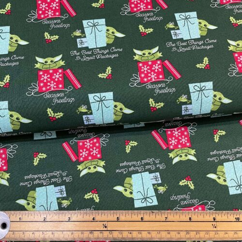 Star Wars Mandolorian: The Child Small Package Cotton Fabric - £10 per metre