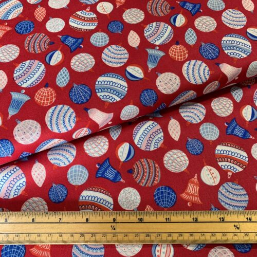 Liberty Fabrics - The Merry And Bright Collection Bauble Bonanza Red - £15 per metre