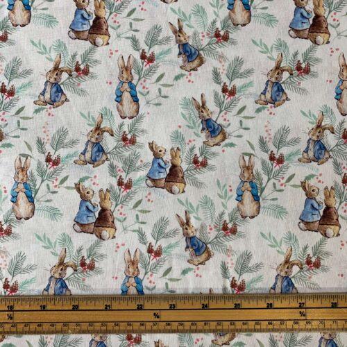 Peter Rabbit: Christmas Ferns Cotton Fabric - £10 per metre