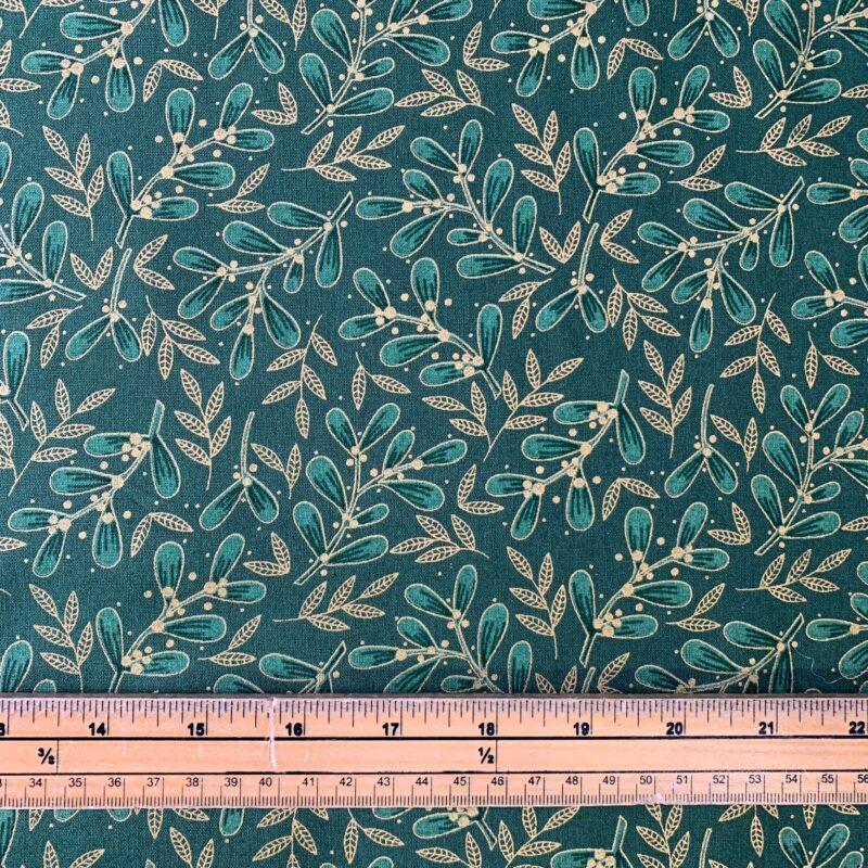 Mistletoe Green Cotton Fabric - £8 per metre