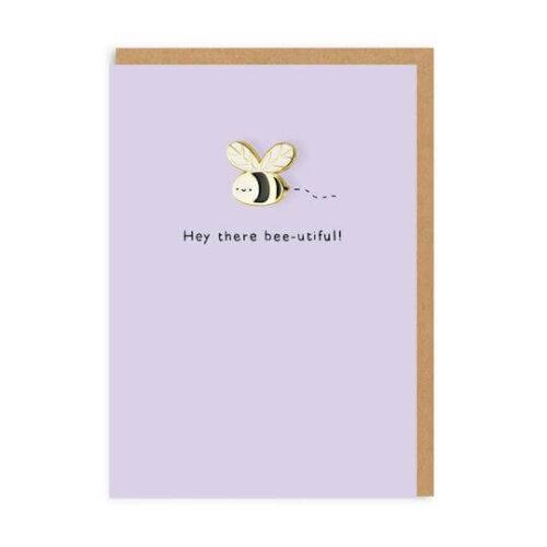Bumblebee Enamel Pin Greeting Card